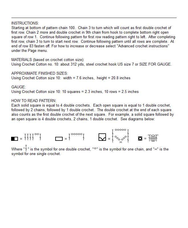 Pg 17 Filet Crochet Project Artnunymiss
