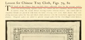 Chinese tray cloth
