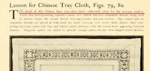 Chinese tray cloth