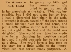 To amuse a sick child