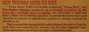 Your debt to Priscilla
