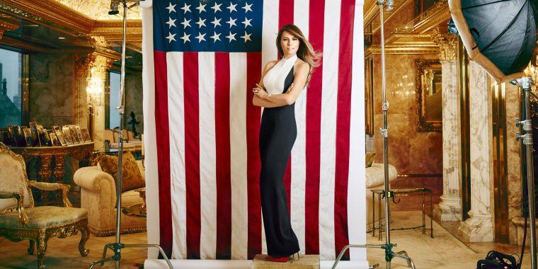 melania-american-flag