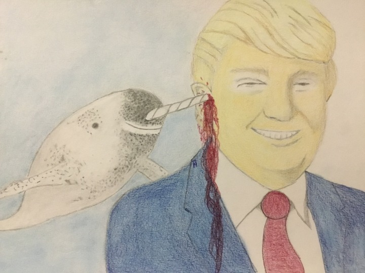 Studio Visit:  Narwhals for Trump